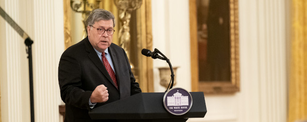 U.S. Attorney General William Barr speaks on 'Operation Legend: Combating Violent Crime in American Cities.'