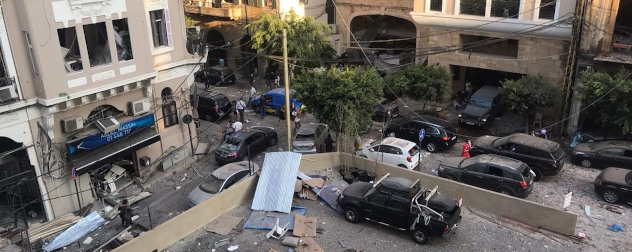 aftermath of the Aug. 4, 2020 explosion in Beirut.
