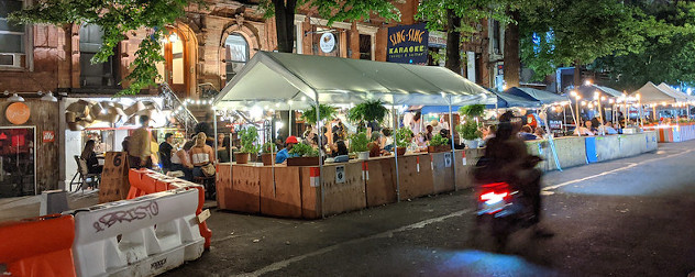 Dining on St. Mark's Place in the East Village