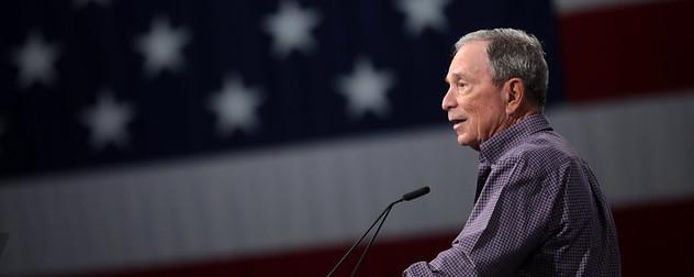 Former Mayor Michael Bloomberg speaks at the Presidential Gun Sense Forum in Des Moines, Iowa.
