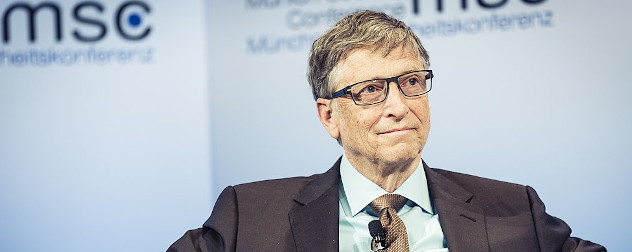 Bill Gates at the 53rd Munich Security Conference, September 2017.