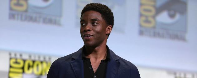 Chadwick Boseman at the San Diego Comic Con International in 2016