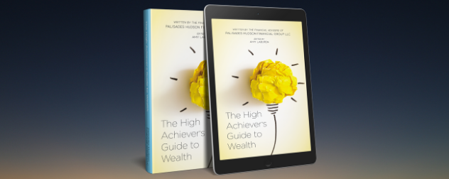 cover of The High Achiever's Guide to Wealth on a paperback and a tablet.