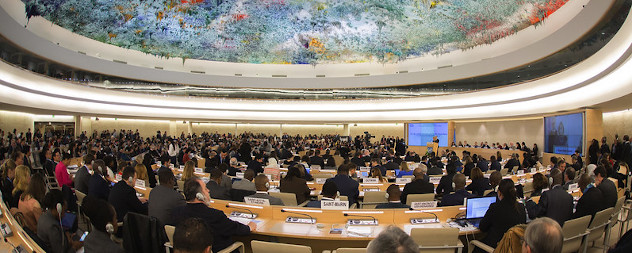 United Nations Human Rights Council in session.