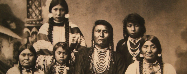 Chief Joseph and family, leader of the Wallowa band of the Nez Perce Tribe.