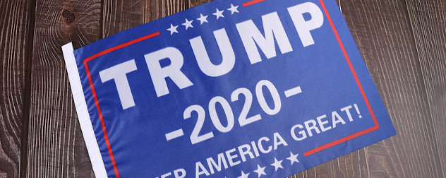Republican presidential candidate Donald Trump 2020 campaign sign.