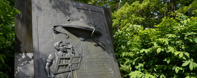 'War of the Worlds' Monument in Grovers Mill, New Jersey.