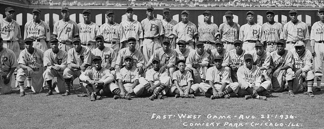 The fourth Negro League All-Star Game, a battle between the best of baseball East and West at Chicago's Comiskey Park on August 23, 1936.