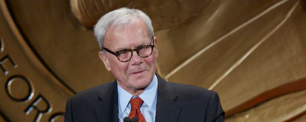 Tom Brokaw, accepts his personal Peabody Award.