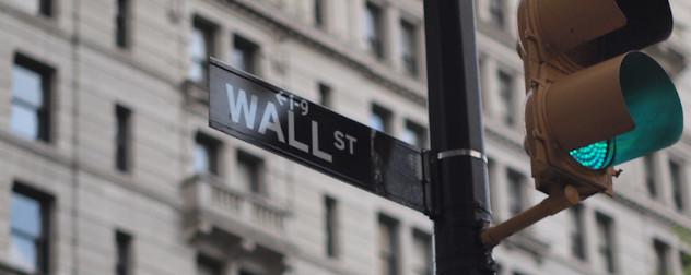 Wall Street street sign, New York City.