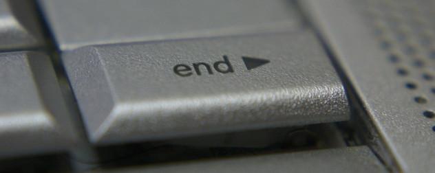 'end' key on a laptop keyboard.